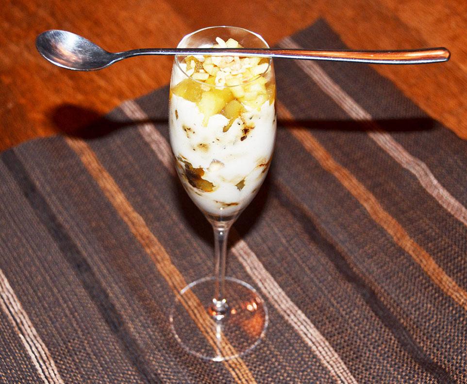 Apfel-Vanille Dessert
