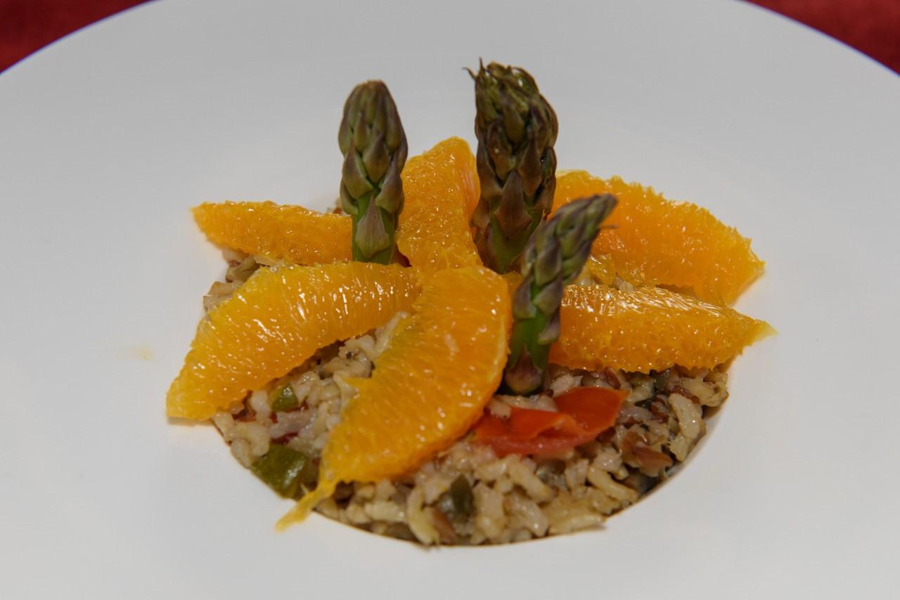 Spargelreis mit Orange